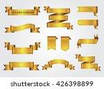 ribbon banner set.golden... | Shutterstock .eps vector #426398899