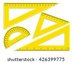triangle rulers and protractor  ... | Shutterstock .eps vector #426399775