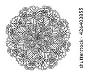 round element for coloring book....   Shutterstock .eps vector #426403855