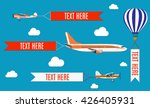 aeroplane  planes  biplane and... | Shutterstock .eps vector #426405931