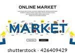 flat line design of web banner...   Shutterstock .eps vector #426409429
