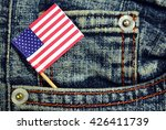 american flag in a pocket of... | Shutterstock . vector #426411739
