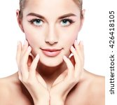 closeup portrait of sexy... | Shutterstock . vector #426418105
