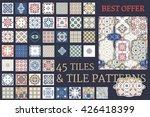 big set of 45 tile seamless...   Shutterstock .eps vector #426418399