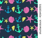 nautical seamless pattern with... | Shutterstock .eps vector #426418501