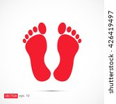 feet icon | Shutterstock .eps vector #426419497
