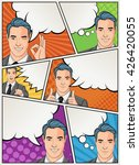 comic book page with retro man... | Shutterstock .eps vector #426420055