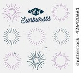 set of old light rays  retro... | Shutterstock .eps vector #426420661