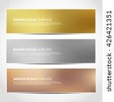 set of gold  silver  bronze... | Shutterstock .eps vector #426421351