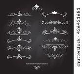 set of vintage decorations... | Shutterstock .eps vector #426421681