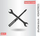wrench screwdriver set icon...