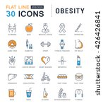 set vector line icons in flat... | Shutterstock .eps vector #426426841