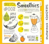 food sketchbook. useful drinks... | Shutterstock .eps vector #426429391