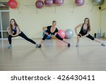 beautiful girls spend aerobics... | Shutterstock . vector #426430411