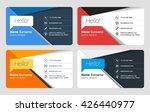 business card vector template.... | Shutterstock .eps vector #426440977
