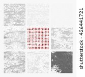set of distressed halftone... | Shutterstock .eps vector #426441721