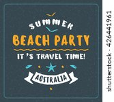 vintage hipster summer holidays ... | Shutterstock .eps vector #426441961