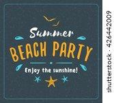 vintage hipster summer holidays ... | Shutterstock .eps vector #426442009