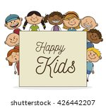 happy kids design  | Shutterstock .eps vector #426442207