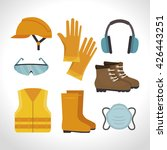 safety equipment design  | Shutterstock .eps vector #426443251