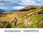 female hiker hiking in the...   Shutterstock . vector #426445915