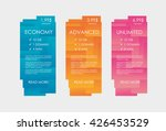 set tariffs for website.... | Shutterstock .eps vector #426453529