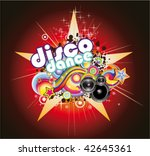 abstract magic colorful disco... | Shutterstock .eps vector #42645361