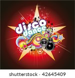 abstract magic colorful disco... | Shutterstock . vector #42645409