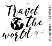 travel the world hand drawn... | Shutterstock .eps vector #426454654