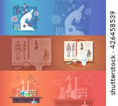 genetics. man genome. human... | Shutterstock . vector #426458539