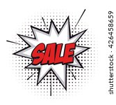 isolated sale comic expression...   Shutterstock .eps vector #426458659