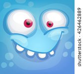 cartoon monster face | Shutterstock .eps vector #426462889