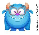 cute cartoon monster | Shutterstock .eps vector #426466669