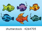 six funny and bright colored... | Shutterstock .eps vector #4264705