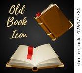 cartoon brown book open and... | Shutterstock .eps vector #426472735
