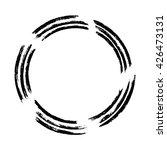 grunge circle frame  vector... | Shutterstock .eps vector #426473131