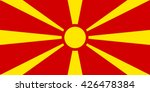 macedonia flag  official colors ... | Shutterstock .eps vector #426478384