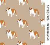 english bulldog seamless... | Shutterstock .eps vector #426485191