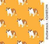 english bulldog seamless... | Shutterstock .eps vector #426485194