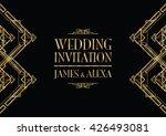 wedding invitation art deco  | Shutterstock .eps vector #426493081
