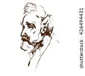 old man portrait side view....   Shutterstock .eps vector #426494431