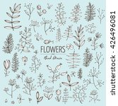 vector set  floral elements.... | Shutterstock .eps vector #426496081