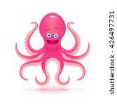 vector cartoon octopus... | Shutterstock .eps vector #426497731