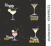 happy hour labels | Shutterstock .eps vector #426498121