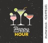 happy hour label | Shutterstock .eps vector #426498181
