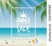 summer sale label | Shutterstock .eps vector #426498589
