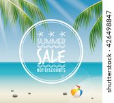 summer sale label | Shutterstock .eps vector #426498847