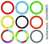 circle  ring. set of 9 colorful ... | Shutterstock .eps vector #426498895