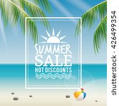 summer sale label | Shutterstock .eps vector #426499354