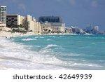 Caribbean Beach In Cancun ...